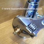 Remove Valve with adjustable Spanner (gripping the Nut underneath the Splines)