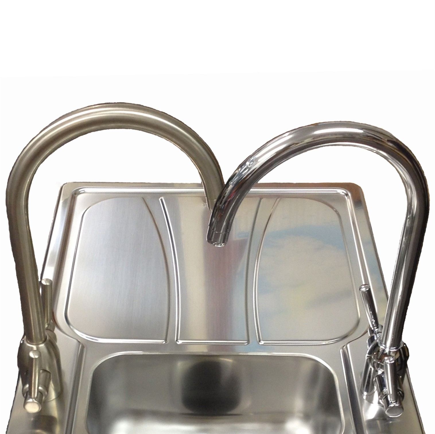 Brushed Or Chrome Kitchen Taps Stainless Steel Kitchen