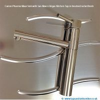 Carron Phoenix Maui Sink with San Marco Vegas Tap in brushed nickel finish