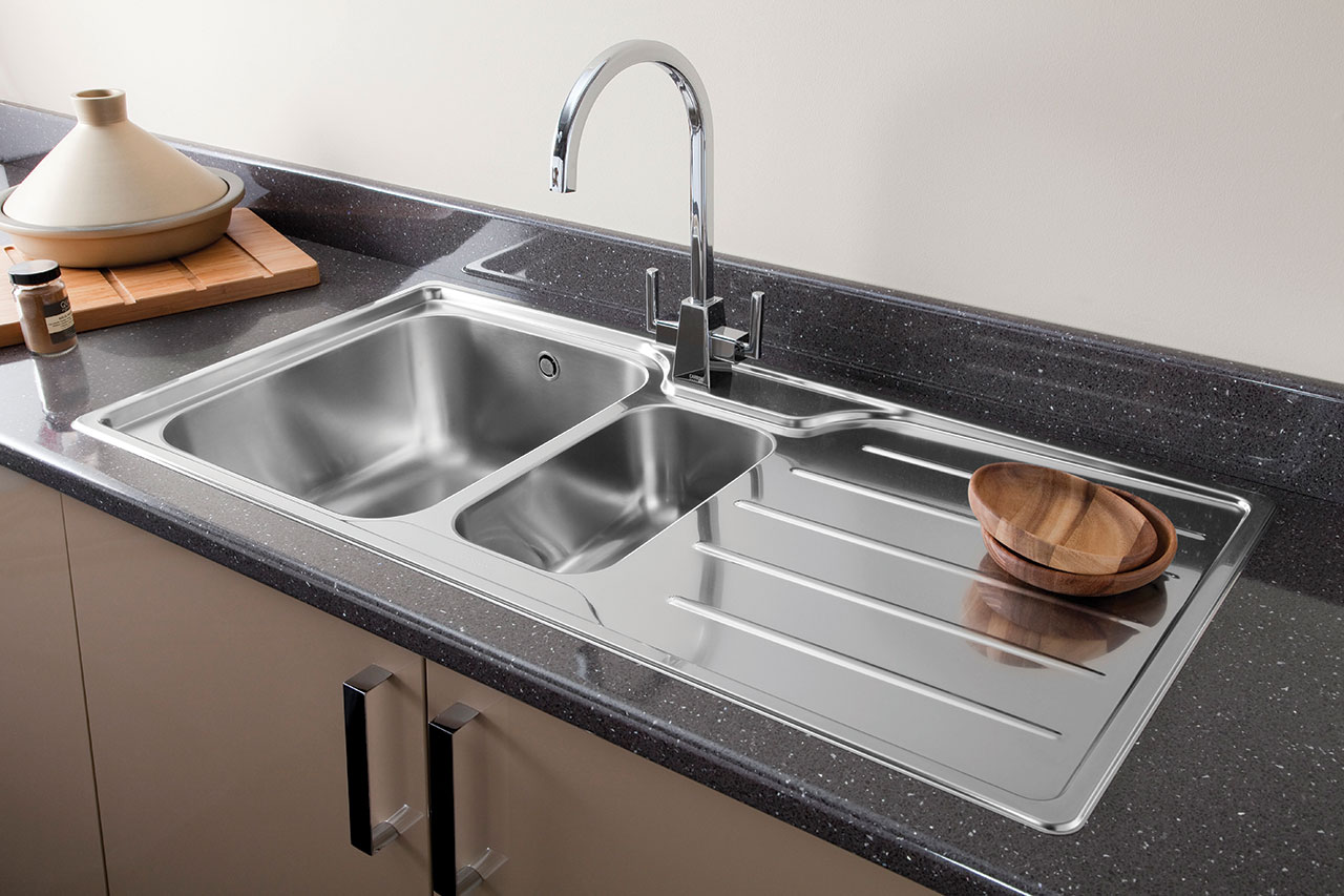 Chrome Or Brushed Steel Finish Kitchen Tap For Your Kitchen Sink - Brushed stainless steel kitchen sinks
