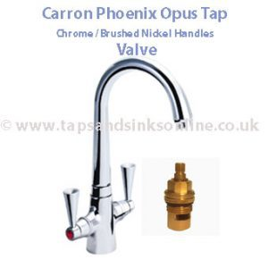 Carron Opus Tap Valve (for Tap with Chrome / Brushed Nickel Handles)