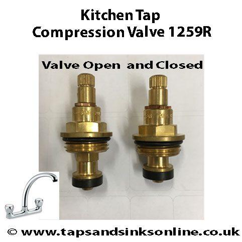 Kitchen Tap Compression Valve 1259R