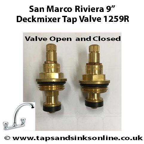 San Marco Riviera Deckmixer Valve 1259R