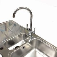 Carron Phoenix Zeta 150 Sink with San Marco Cedar Tap Chrome