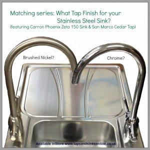 Matching series: featuring Carron Phoenix Zeta 150 Sink  & San Marco Cedar Tap