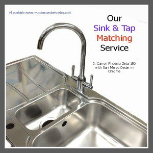 Carron Phoenix Zeta 150 Sink with San Marco Cedar Kitchen Tap in Chrome finish