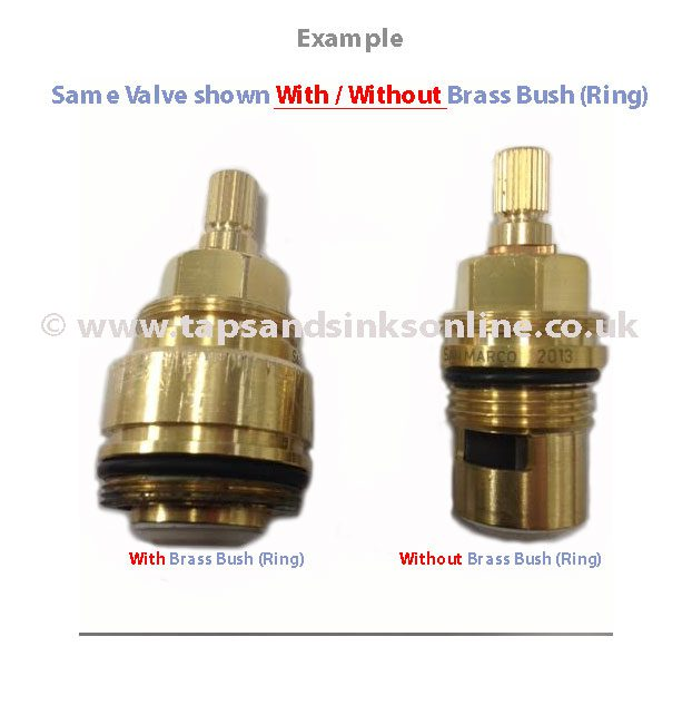 Valve With And Without Brass Bush (Ring)