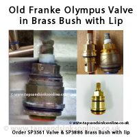 Earlier Franke Olympus Valve and Bush with lip SP3886