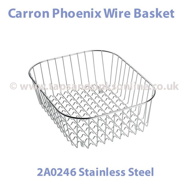 Stainless Steel Wire Baskets | Carron Phoenix Wire Basket 112 0018 968 Wire Baskets For Sinks