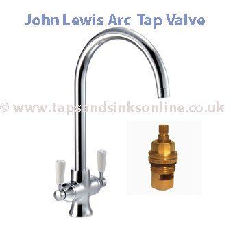 John Lewis Arc Kitchen Tap Valve
