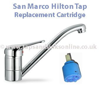 San Marco 1229R 40mm cartridge single lever kitchen tap ...