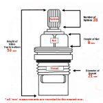 UK Kitchen Tap Valve 1427R Blueprint