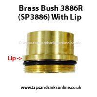 Brass Bush 3886R with Lip