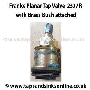2307R Valve inside Brass Bush with lip 3886R