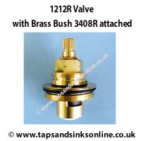 1212R and 3408R Brass Bush attached