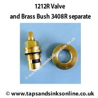 1212R and 3408R Brass Bush Separate