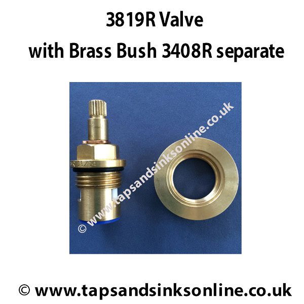 3819R valve and 3408R Brass Bush separate
