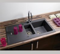 Carron Phoenix Bali 150 Granite Sink with 2 Revolution Wastes