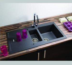 Carron Phoenix Bali 150 Granite Sink with 2 Revolution Wastes