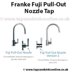 Franke Fuji Pull Out Taps Version 1 & 2