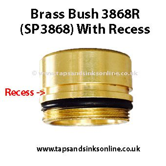 3868R Brass Bush with Recess