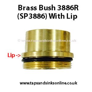 3886R Brass Bush with Lip