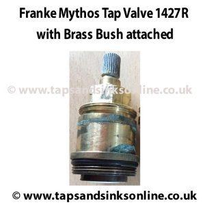 Franke Mythos Valve 1427R with Brass Bush attached