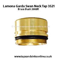 Lamona Garda Swan Neck Tap 3521 Brass Bush 3868R