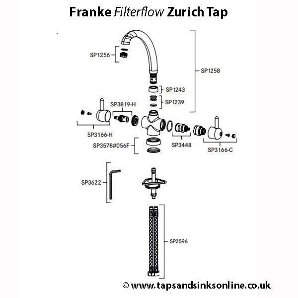 zurich filterflow tap parts