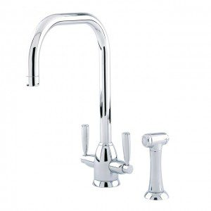 4868 Oberon Sink Mixer with 'U' Spout and Rinse Tap Parts