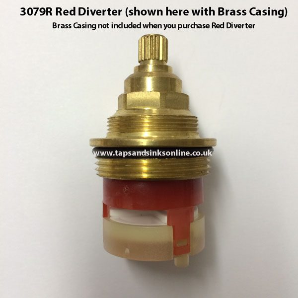 Red Diverter Cartridge 3079R-with-casing