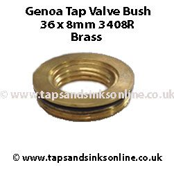 Genoa Tap 36 x 8mm Valve Bush 3408R Brass