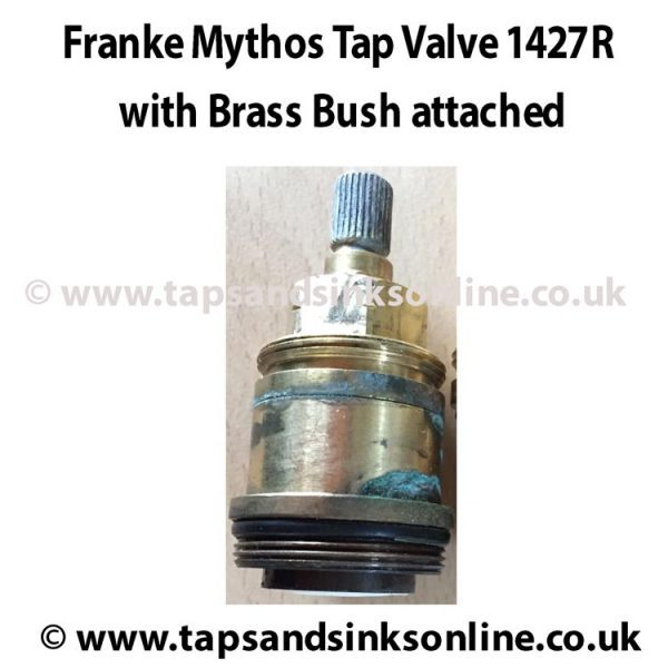 Example of Mythos Valve 1427R inside Brass Bush SP3886 (previously known as 3886R)
