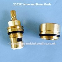 2552R Valve and Brass Bush separate