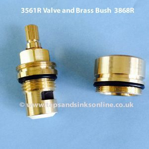 3561R Valve and Brass Bush 3868R separate