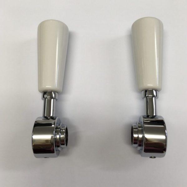 3044R White Ceramic Handles