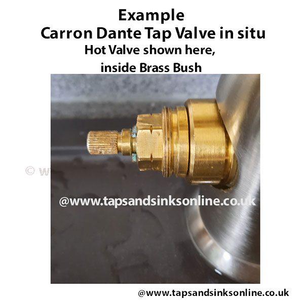 Carron Dante Tap Hot Valve in Situ Example
