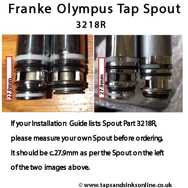 Franke Olympus Tap Spout 3218R Infographic Detail