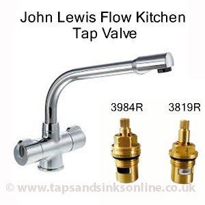 John Lewis Flow Kitchen Tap Valve