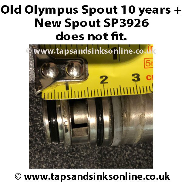 Old Olympus Spout incompatible with SP3926