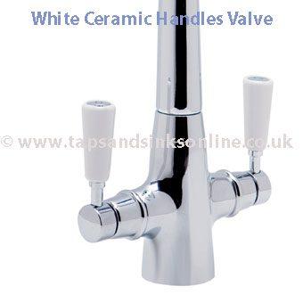 White Ceramic Handle