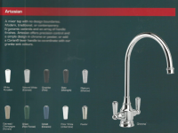 artesian handle options colours