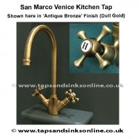 san marco venice kitchen tap with handle detail