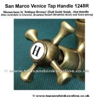 San Marco Venice Tap Handle 1248R Antique Bronze (Dull Gold) finish