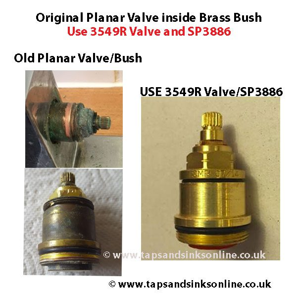old planar valve bush 3549R sp3886