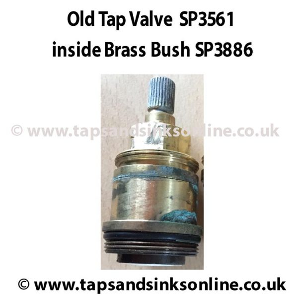 Old Franke Valve SP3561 inside Brass Bush SP3886