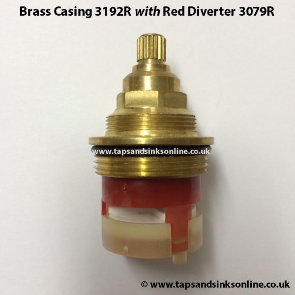 Set of Brass Casing 3192R and 3079R Red Diverter