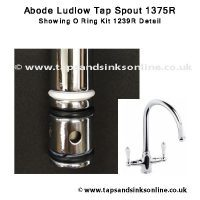 Abode Ludlow 1375R spout detail 1239R O Ring Kit