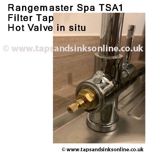 Rangemaster Spa Filter Tap TSA1 Hot Valve in situ