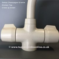 Genoa Champagne Granite Kitchen Tap Close up Detail
